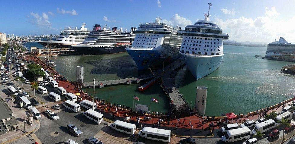 Puerto de San Juan de Puerto Rico.