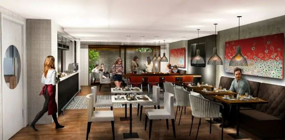 Diseño de habitación de hotel Soro Montevideo by Hilton Curio Collection