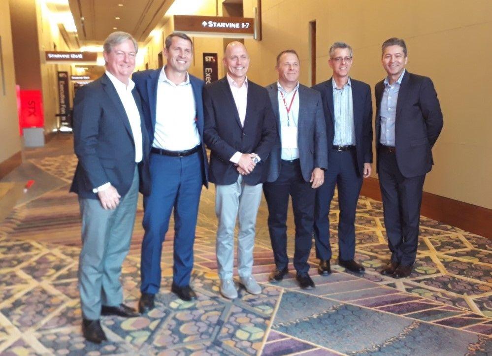 Equipo ejecutivo de Sabre, en el STX 2019 de Las Vegas