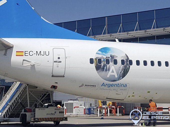 Publicidad de Misiones en un avión de Air Europa. Foto: Desde El Patio Blog