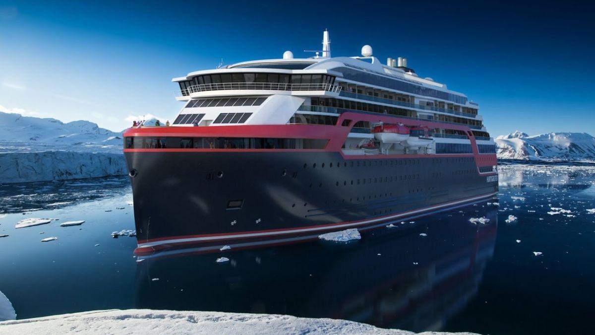 El Roald Amundsen, de Hurtigriten, destaca por su sostenibilidad