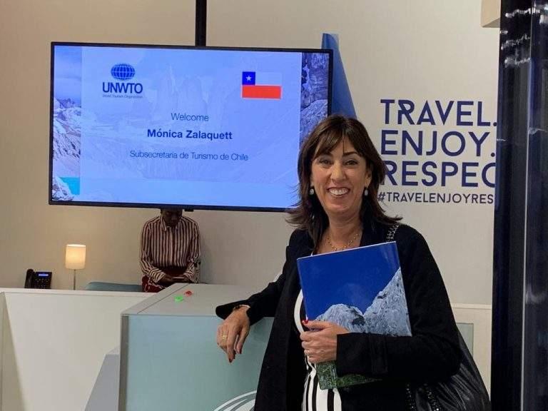 Mónica Zalaquett, subsecretaria de Turismo de Chile, en la cumbre de la OMT en Rusia