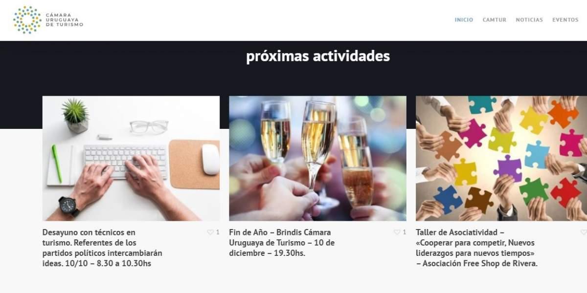 La nueva web de la Cámara Uruguaya de Turismo, más moderna y ágil