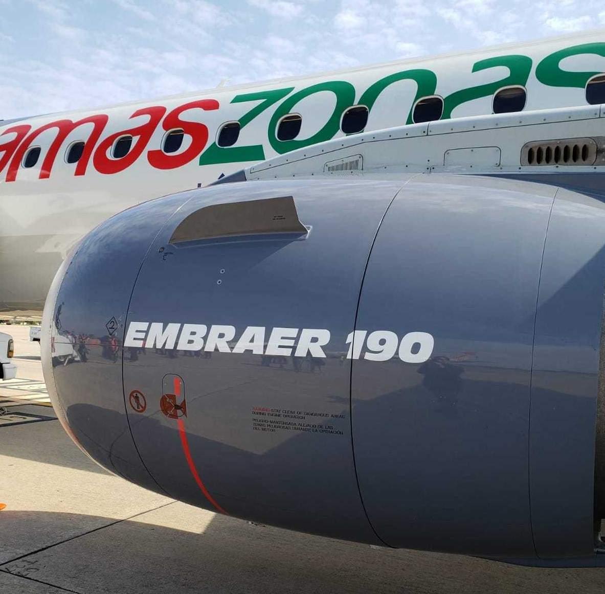 Nuevo Embraer 190 de Amaszonas en el Aeropuerto de Carrasco