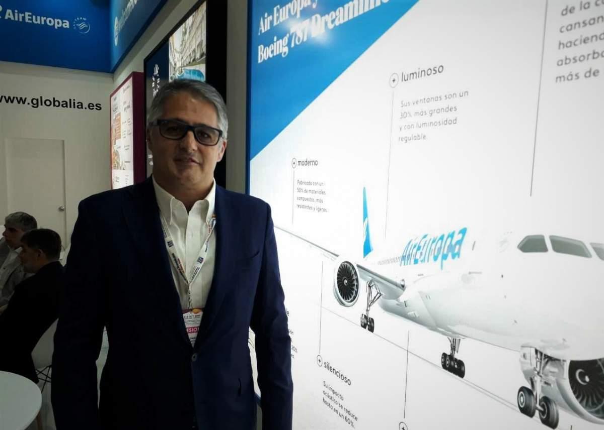 Diego García, director de Air Europa para América en la FIT 2019