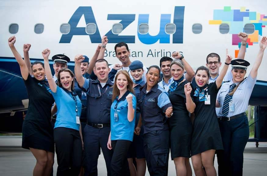 Tripulantes de Azul Linhas Aéreas