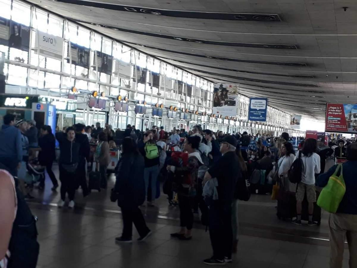 Aeropuerto Nuevo Pudahuel de Santiago funciona con normalidad desde el jueves