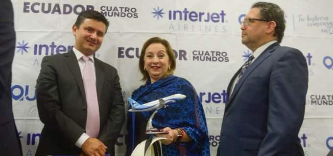 Interjet llega a Ecuador con dos rutas