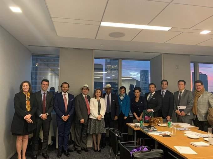 La delegación ecuatoriana visitó la sede de la consultora Morgan