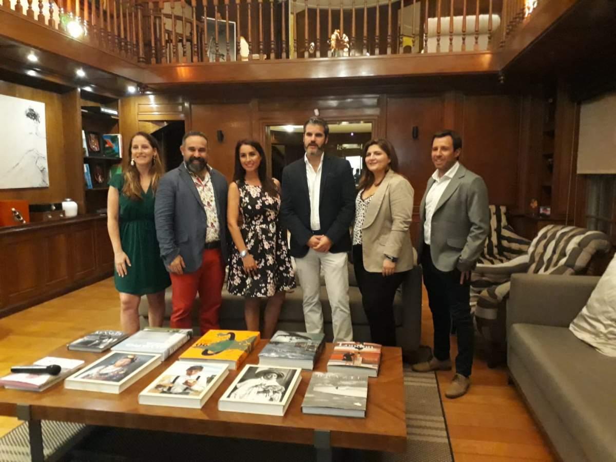 Equipo ejecutivo y comercial de Palladium en Montevideo este martes