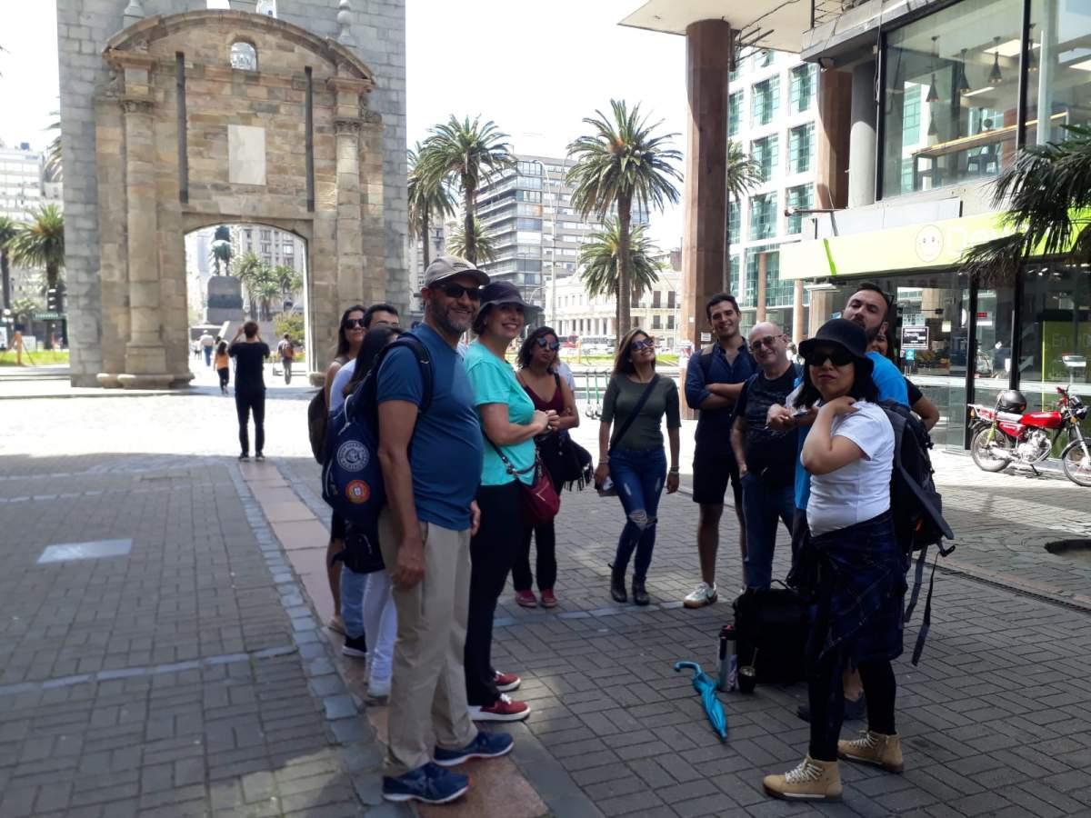 Turistas en Montevideo