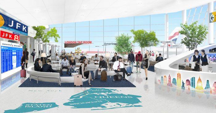 Sala de embarque de la futura terminal 8 del JFK. Imagen: Simple Flying