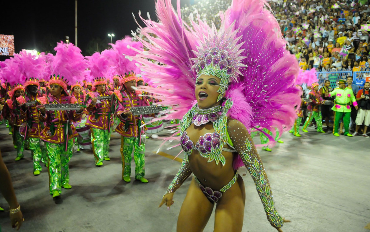 Desfile de Carnaval en el Sambódromo de Rio de Janeiro