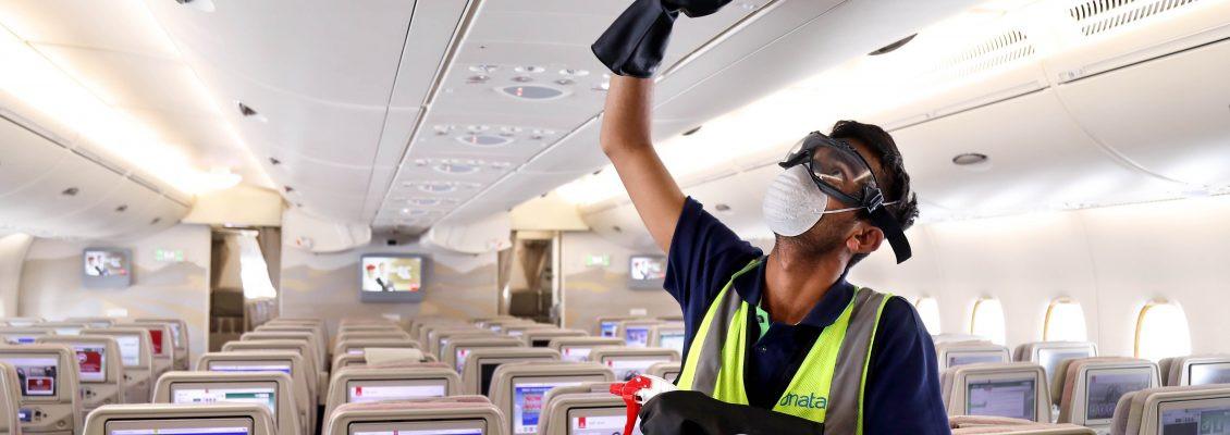 La limpieza a bordo está siendo reforzada en las aerolíneas