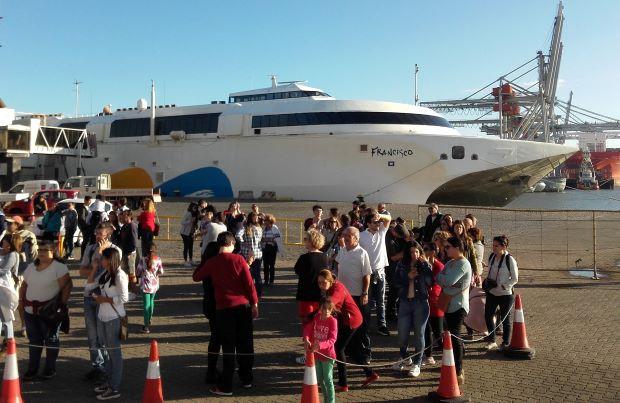 El Francisco es el barco más moderno de la flota de Buquebus