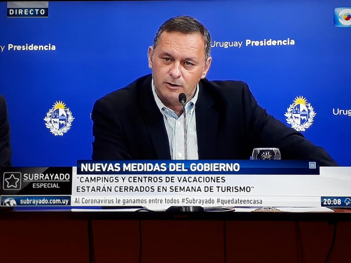 Uruguay cierra campings y centros turísticos en Semana Santa, anunció el secretario de Presidencia, Álvaro Delgado