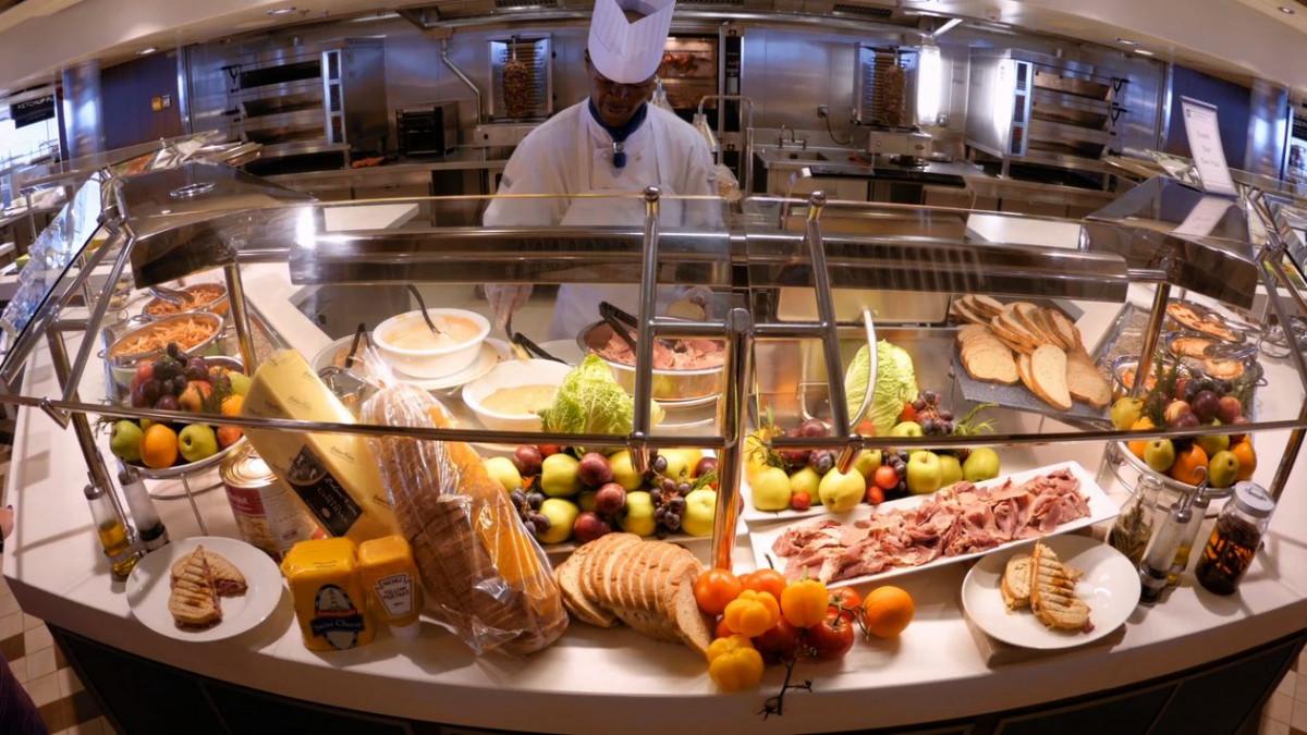 Buffet en Royal Caribbean