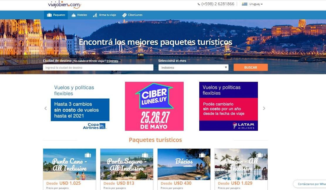 Viajobien.com.uy fue la única agencia que participó en el Ciberlunes.