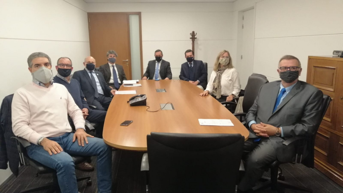 Delegación de AUDAVI y el presidente de la CAMTUR con el secretario de Presidencia este miércoles.