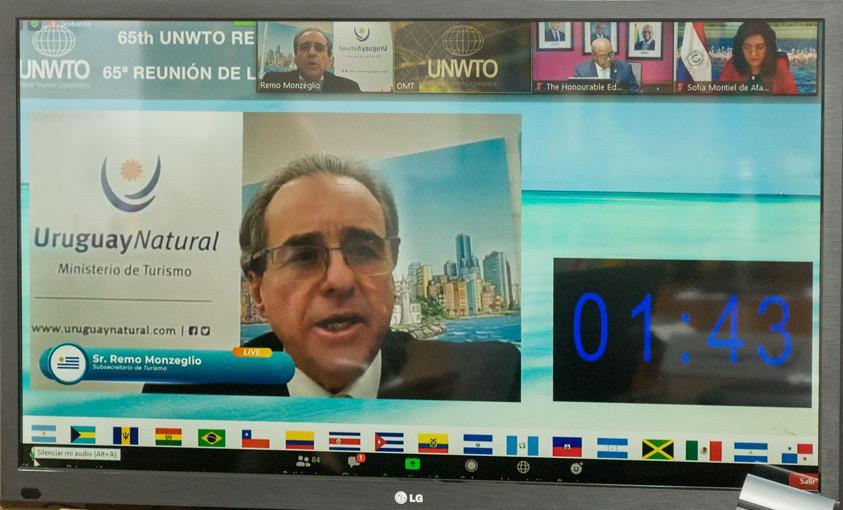 Remo Monzeglio en la reunión de la Comisión para las Américas de la OMT