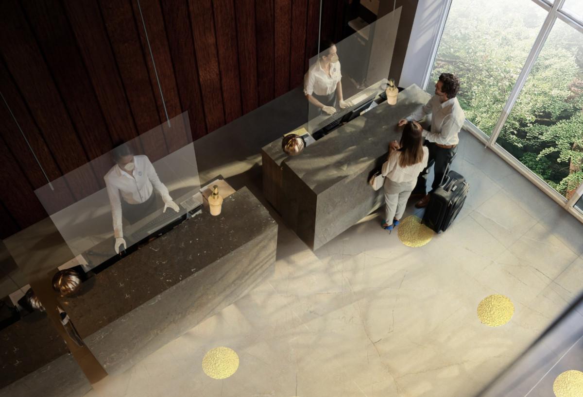 Nuevo diseño de recepción de un hotel de Accor