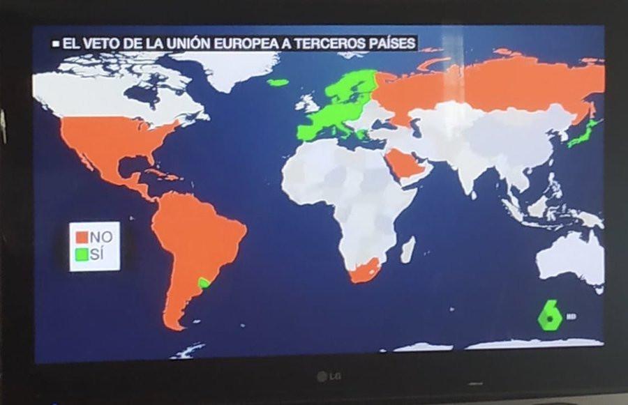 Países habilitados por la Unión Europea
