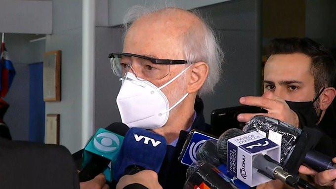 Juan Carlos López mena tras reunión con Lacalle Pou. Foto: Subrayado