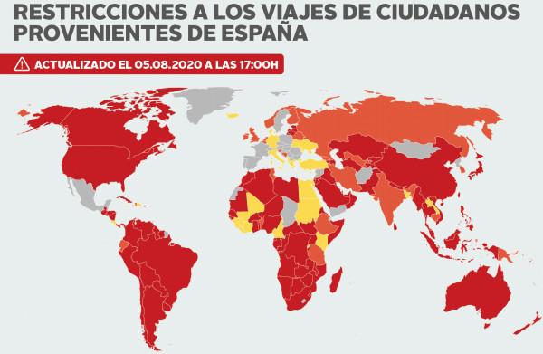 Mapa Los 28 Países Que Imponen Cuarentena A Viajeros De España Economía