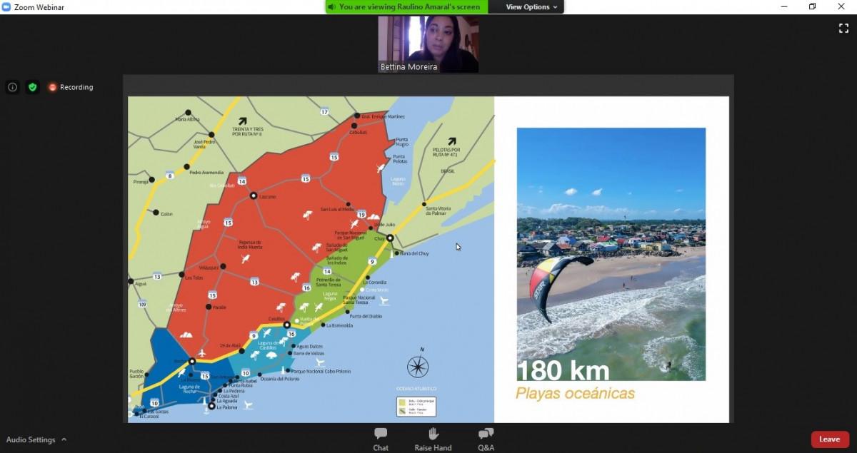 Rocha inició un ciclo de webinars de destinos de Uruguay