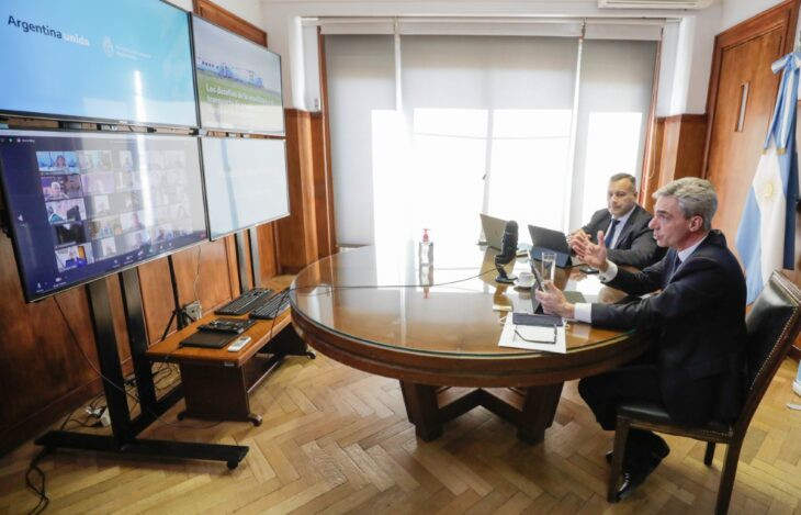 Mario Meoni en teleconferencia de la Fundación Mediterránea