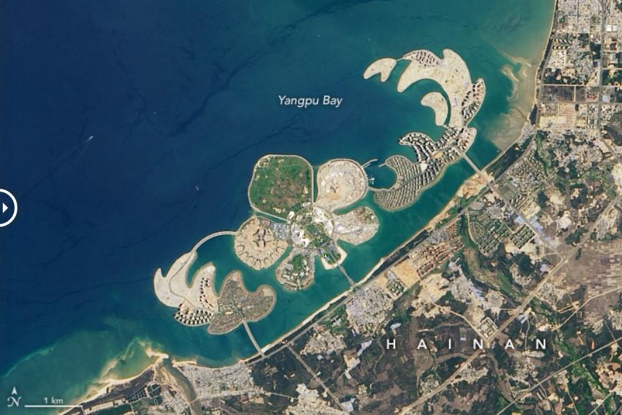 China emula a Dubai construyendo islas artificiales para el turismo
