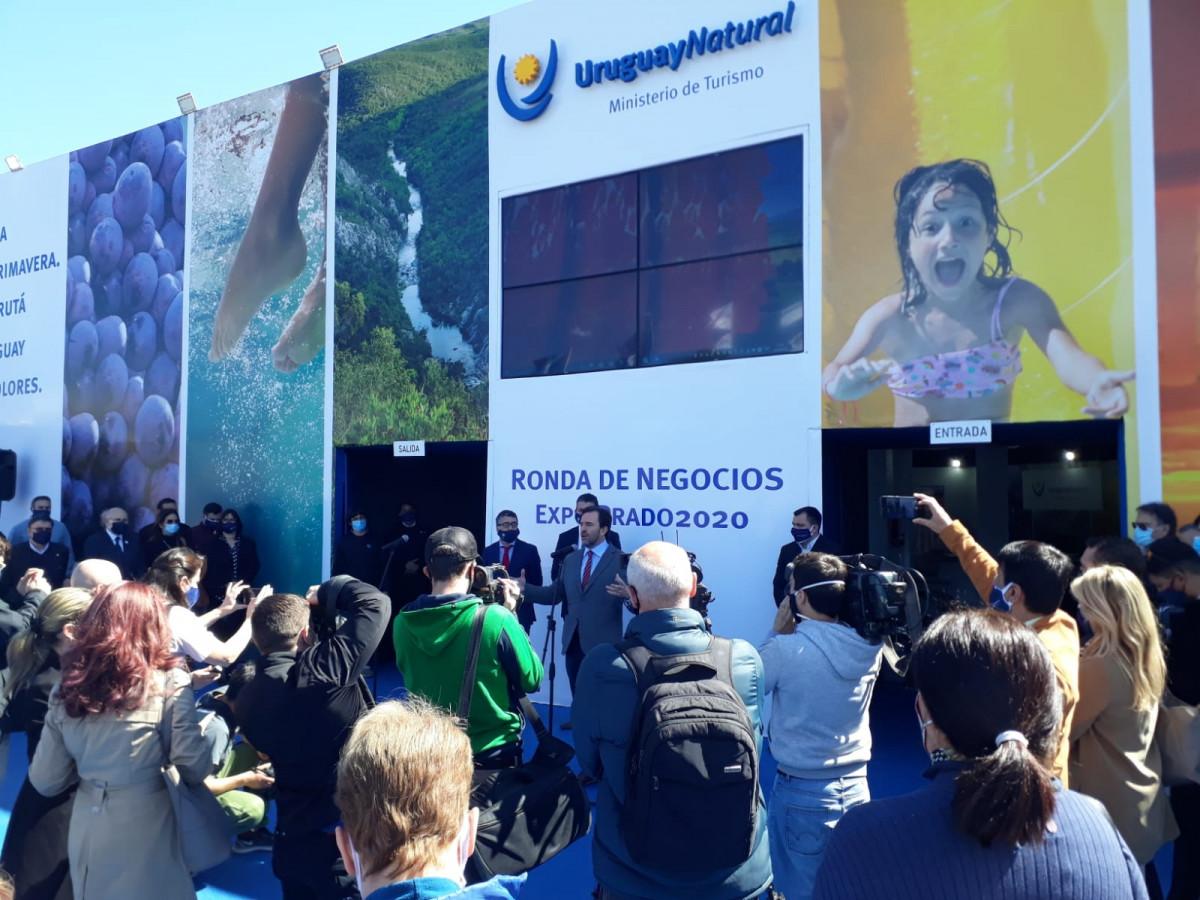 Ministro de Turismo de Uruguay, Germán Cardoso, en la Expo Prado 2020