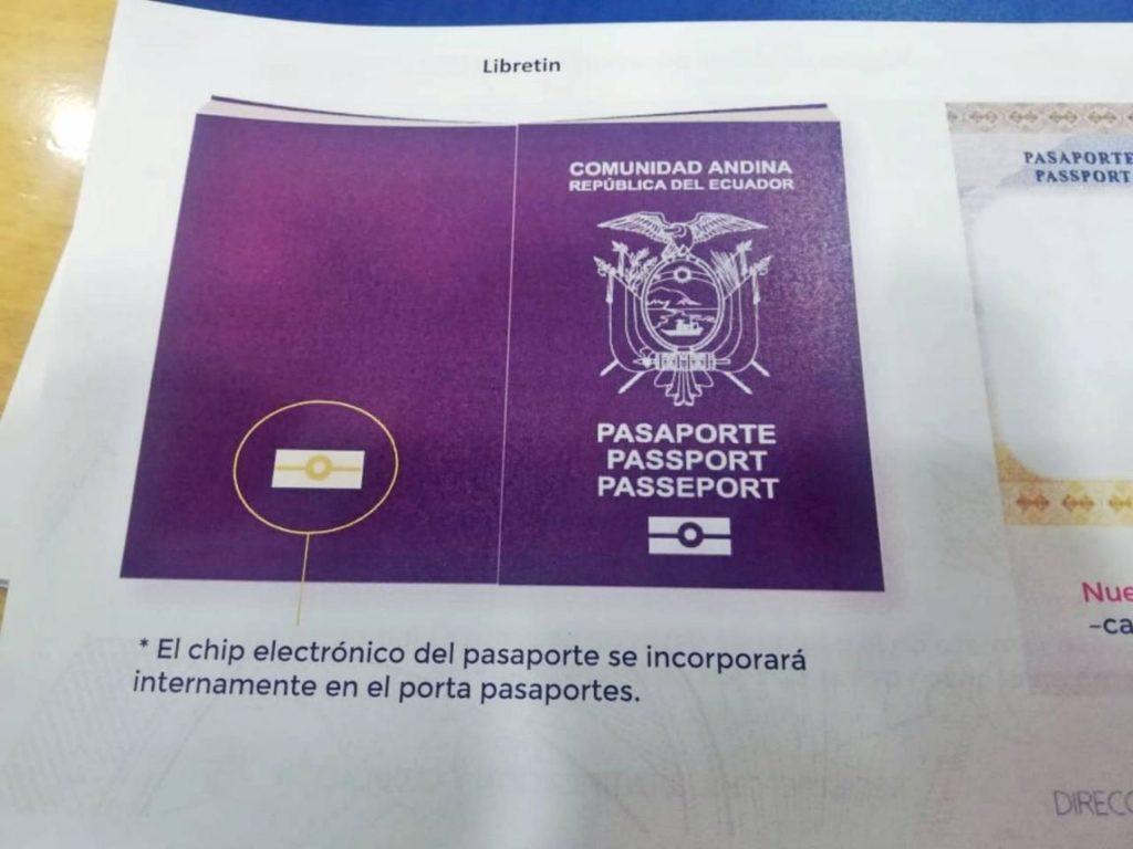 El nuevo pasaporte ecuatoriano con chip