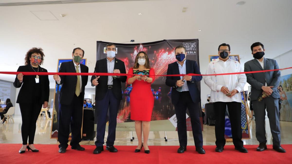 Stand semi virtual de Puebla