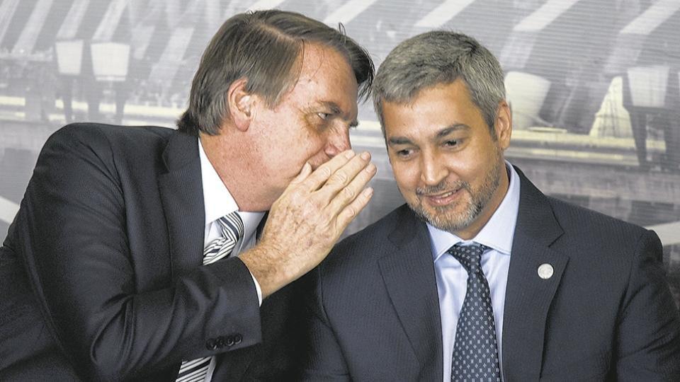 Jair Bolsonaro y Mario Abdo Benítez