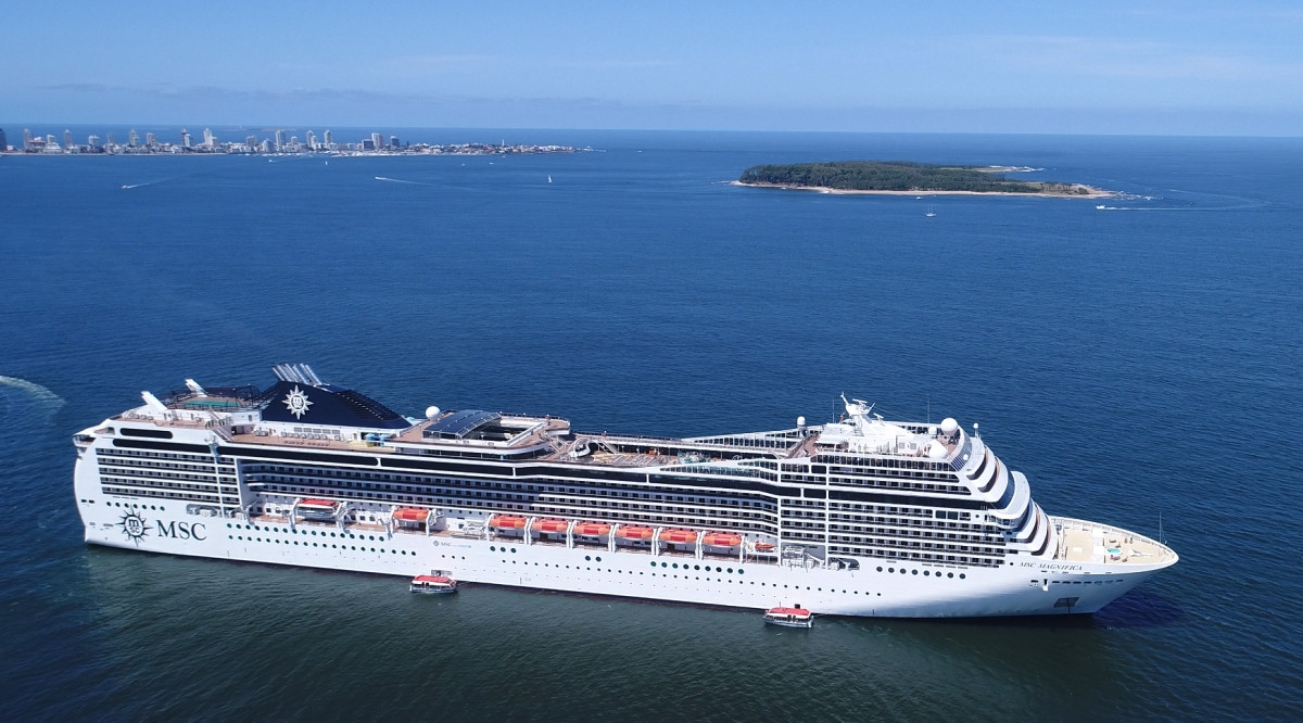 MSC tiene programados varios circuitos con tres barcos entre Argentina, Uruguay y Brasil