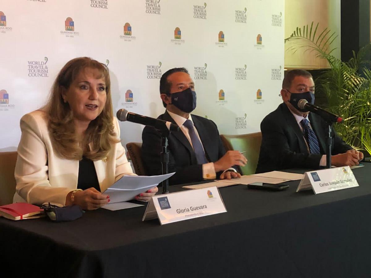 Gloria Guevara, titular del WTTC, hizo el anuncio en Cancún.