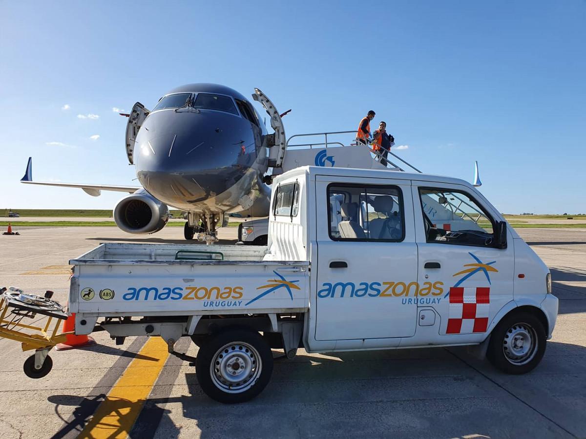 Amaszonas Uruguay realizó decenas de vuelos humanitarios y de repatriación.