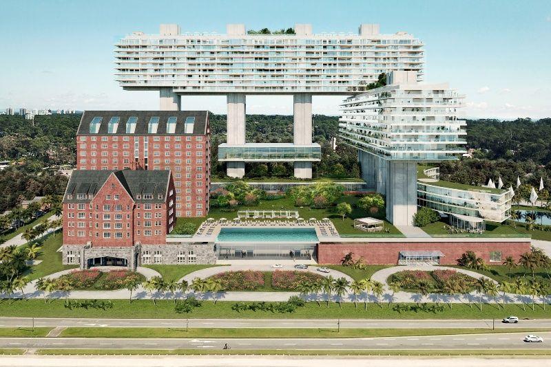 Proyecto del Cipriani Ocean Resort and Club Residences Punta del Este diseñado por el arquitecto uruguayo Rafael Viñoly.