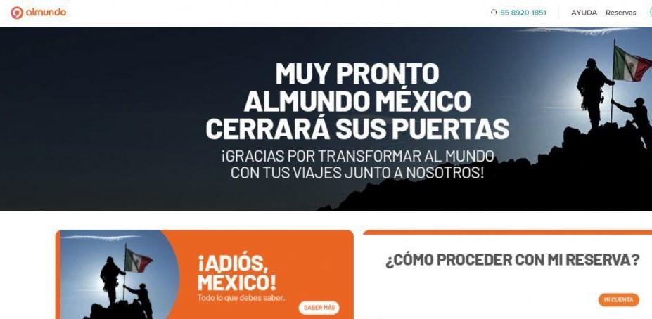 Almundo se retira de los mercados de México y Colombia