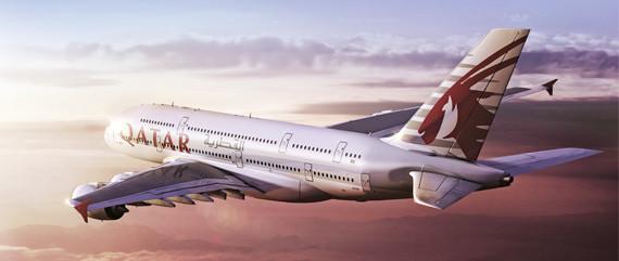 Airbus A380 de Qatar Airways.