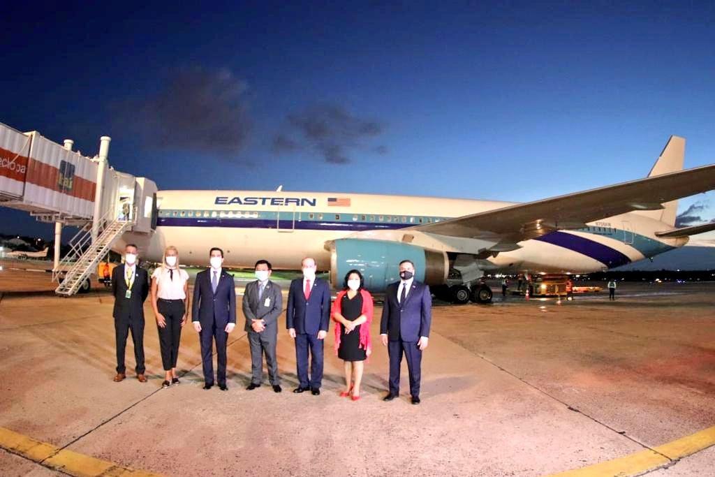 Primer vuelo de Eastern a Asunción. Foto: archivo