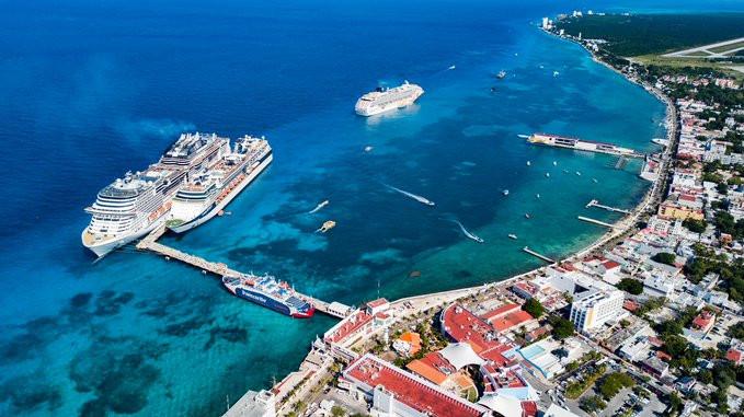 Cozumel, en México, es el puerto del Caribe que más cruceristas recibe.