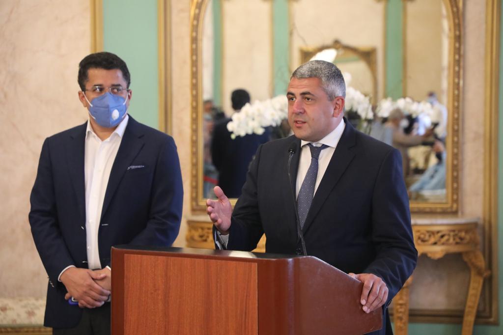 David Collado, ministro de Turismo de República Dominicana, y Zurab Pololikashvili, secretario general de la OMT se reunieron en febrero.