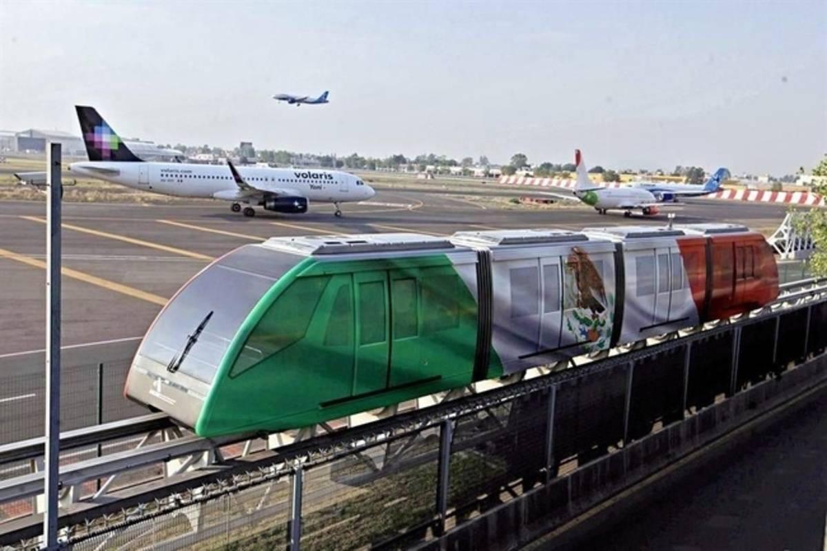Aerotren del Aeropuerto Benito Juárez de México. Foto: Airgways