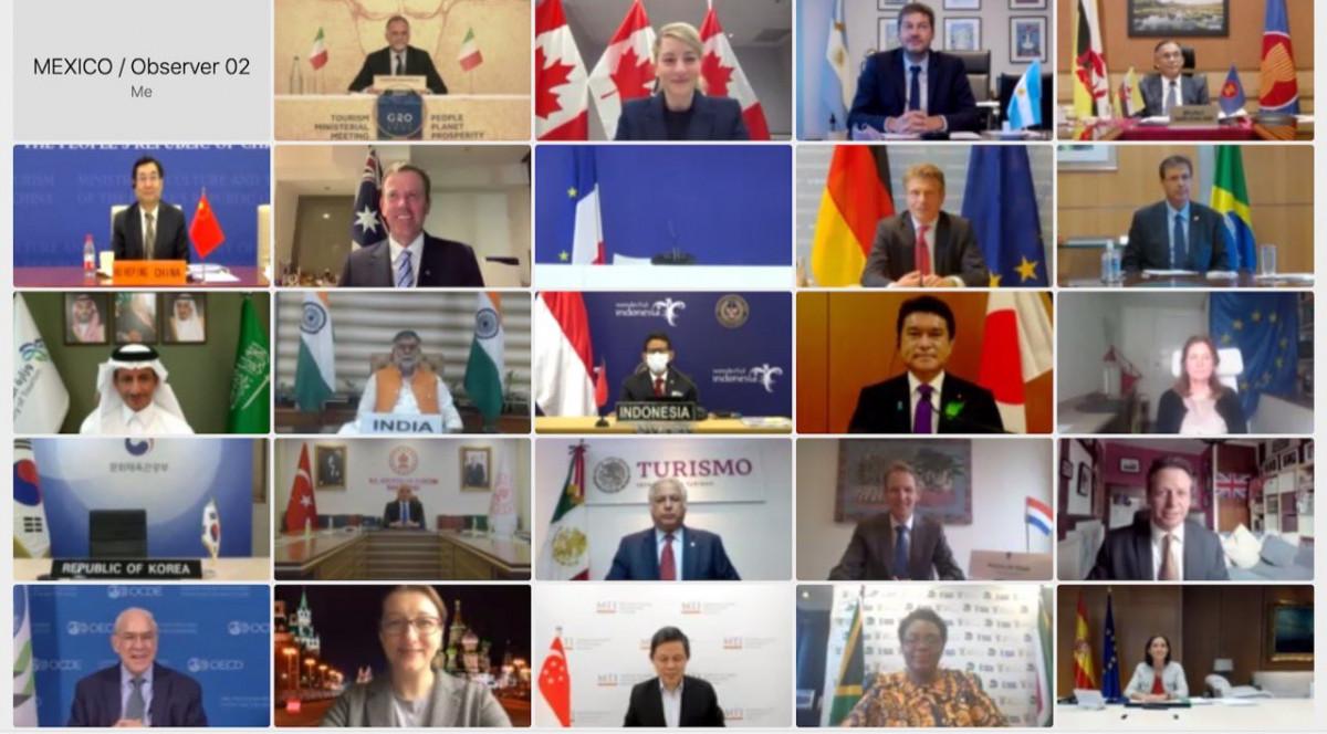 Reunión vía Internet de los ministros de Turismo del G20 este martes