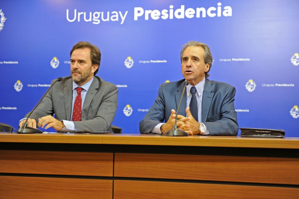 Ministro de Turismo de Uruguay, Germán Cardoso, y subsecretario Remo Monzeglio.