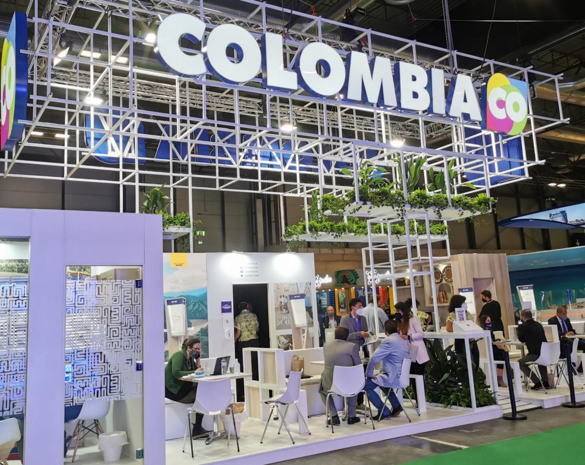 Stand de Colombia en Fitur 2021. Foto: Taiana González / HOSTELTUR