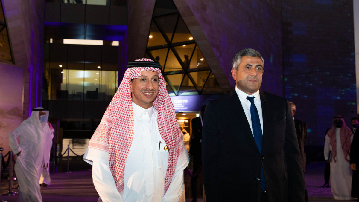 Ministro Ahmed Al Khateeb y Zurab Pololikashvili. Foto: OMT