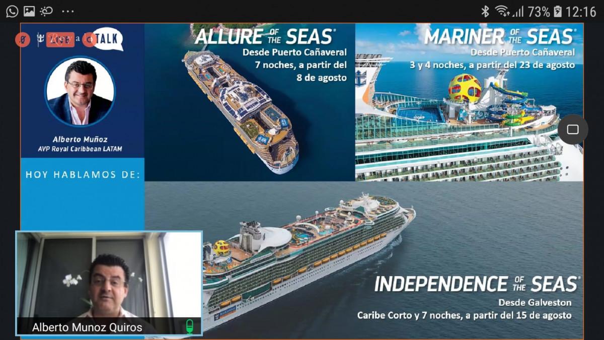 Presentación de Royal Caribbean a agencias de viajes.